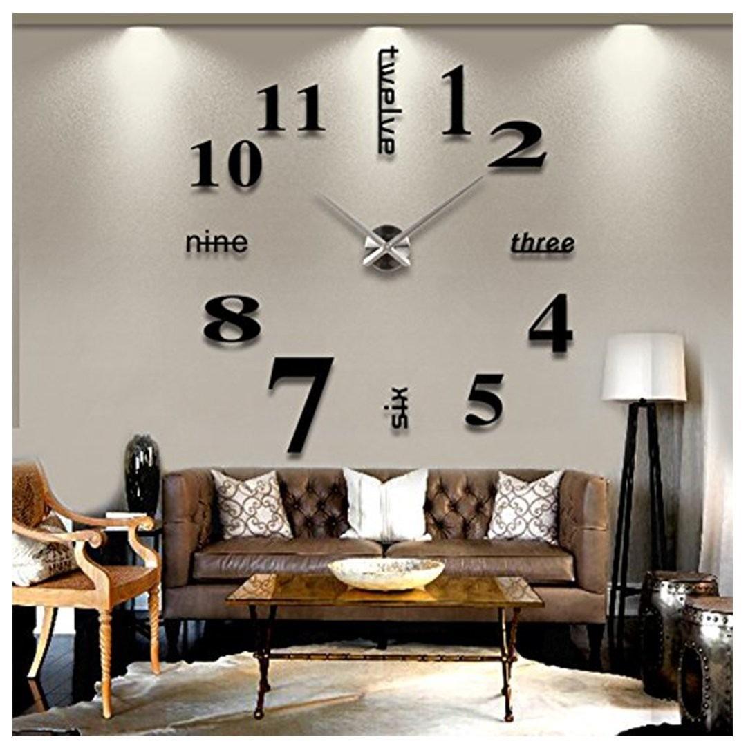 Vinilo decorativo 3d reloj para sala sobrepedido 1 500 for Sala vinilo