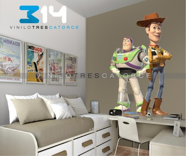 Vinilo decorativo 3d toy story i 07 sticker de pared buzz for Vinilos decorativos pared 3d