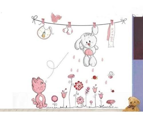 vinilo decorativo animales infantiles,pared,madera, cuartos