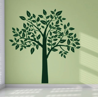 vinilo decorativo árbol - 150 b x 150 a