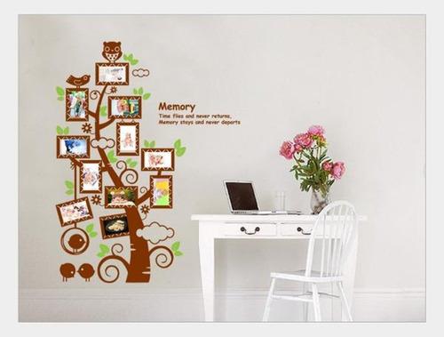 vinilo decorativo arbol de fotos chico - papel tapiz sticker