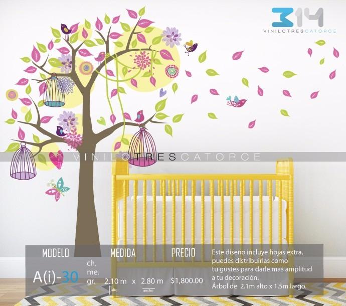Vinilo decorativo rbol infantil i 30 calcoman a para for Calcomanias para pared