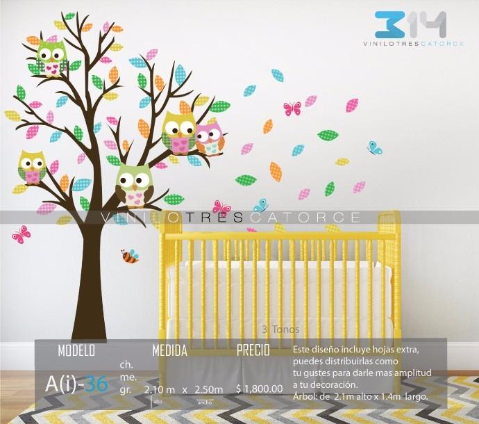 Vinilo decorativo rbol infantil i 36 calcoman a para beb - Vinilo arbol infantil ...