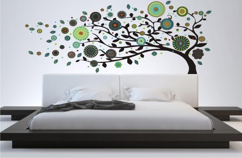 vinilo decorativo arbol mandalas 283x123cm gigante de
