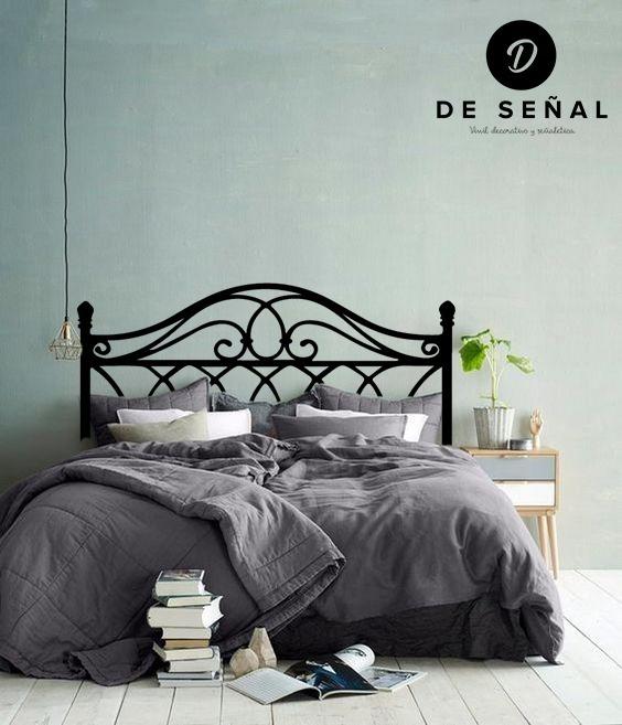 Vinilo decorativo cabecera de cama 1 en mercado libre - Vinilos cabecera cama ...