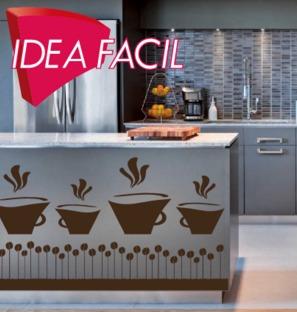 vinilo decorativo cocina cafeteria restaurante - 100b x 55 a