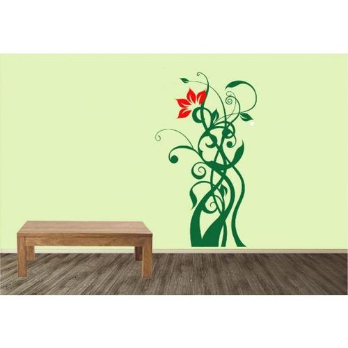 vinilo decorativo creando vinilos floral verde y rojo