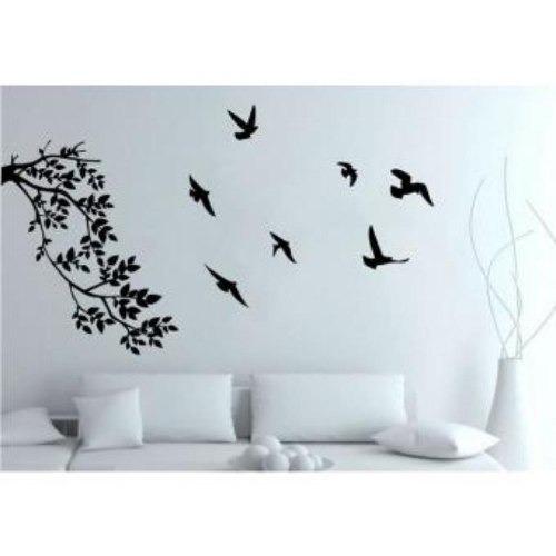 vinilo decorativo creando vinilos ramas y aves color negro