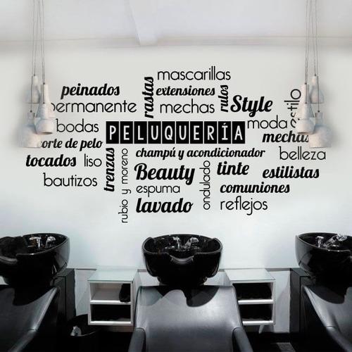 vinilo decorativo de la frases peluquerias esteticas