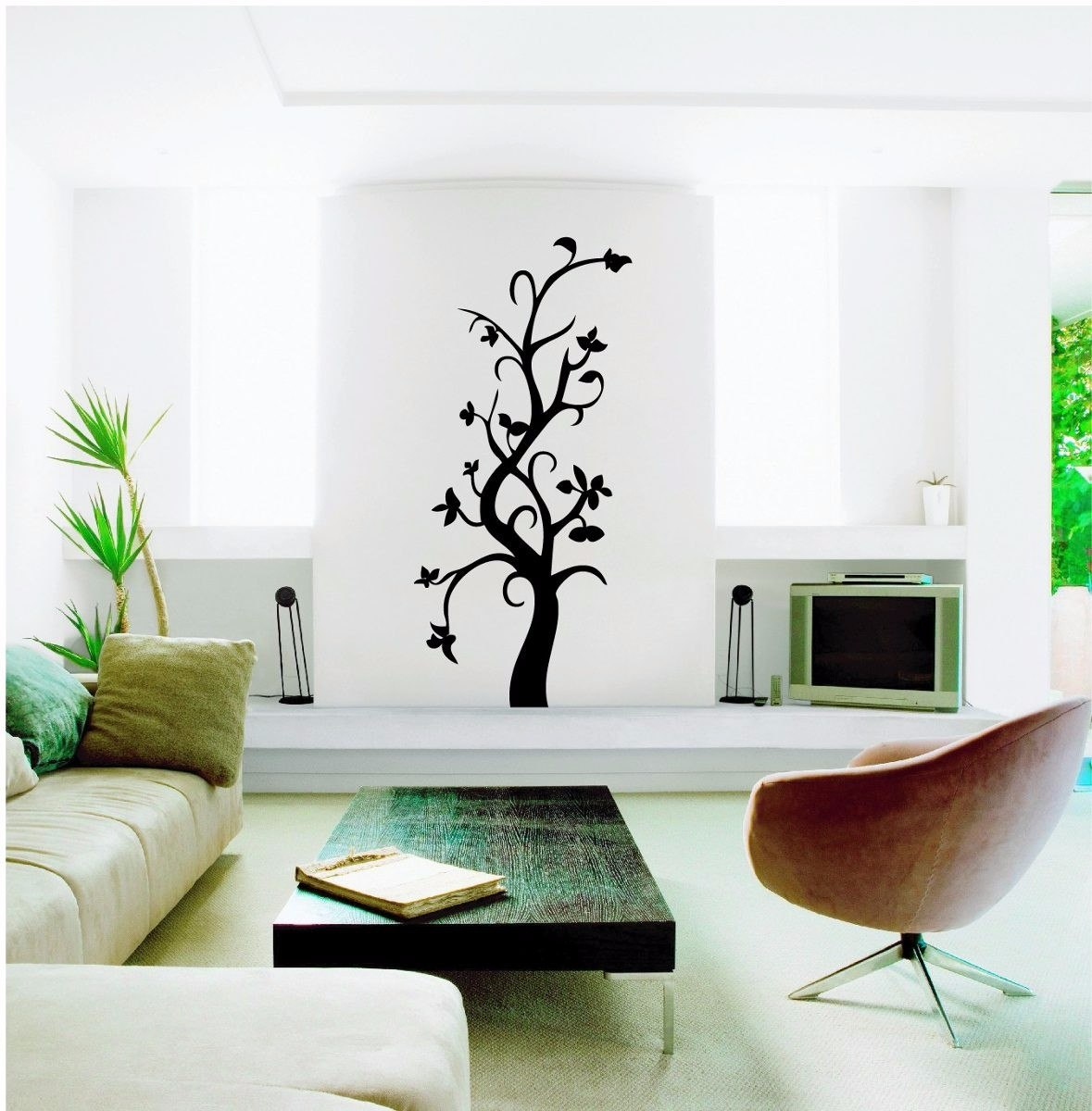 Vinilo decorativo dise o arbol decoracion pared floral for Diseno de vinilos decorativos