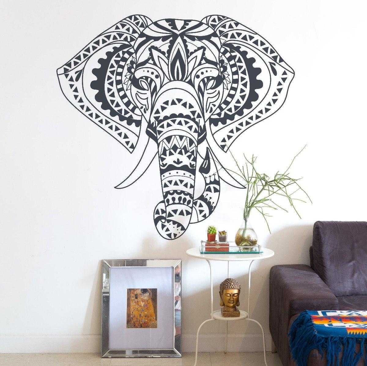 Vinilo decorativo elefantes mandala pared varios dise os for Vinilos pared mandalas