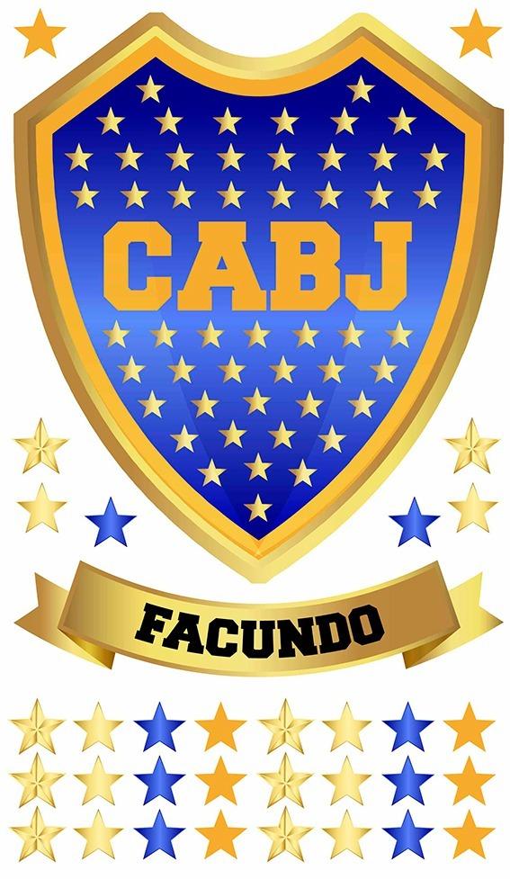 Vinilo Decorativo Escudo Boca Juniors Con Nombre - $ 400,00 en ...