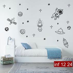 Vinilos Decorativos Planetas.Vinilo Decorativo Espacio Naves Cohete Estrella Planetas
