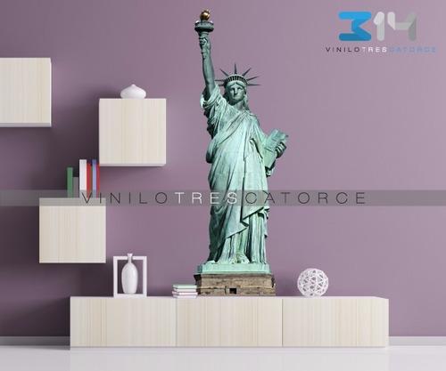 vinilo decorativo estatua de la libertad 02 nueva york calca