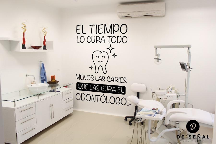 Vinilo decorativo flor dentista caries tiempo odontologo en mercado libre - Decoracion relojes de pared ...