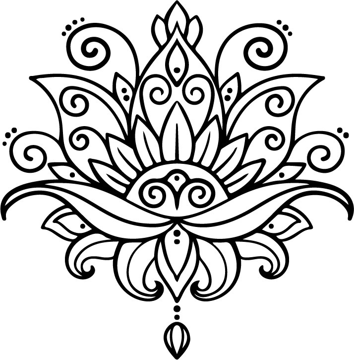 Vinilo Decorativo Flor Loto Mandala 13900 En Mercado Libre