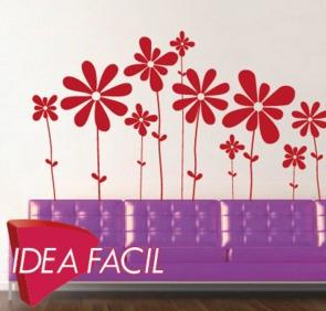 vinilo decorativo flores - 200 b x 110 a