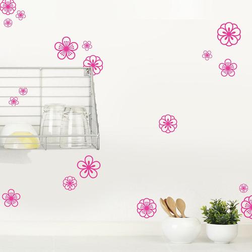 vinilo decorativo flores retro blancas-barrancas de belgrano