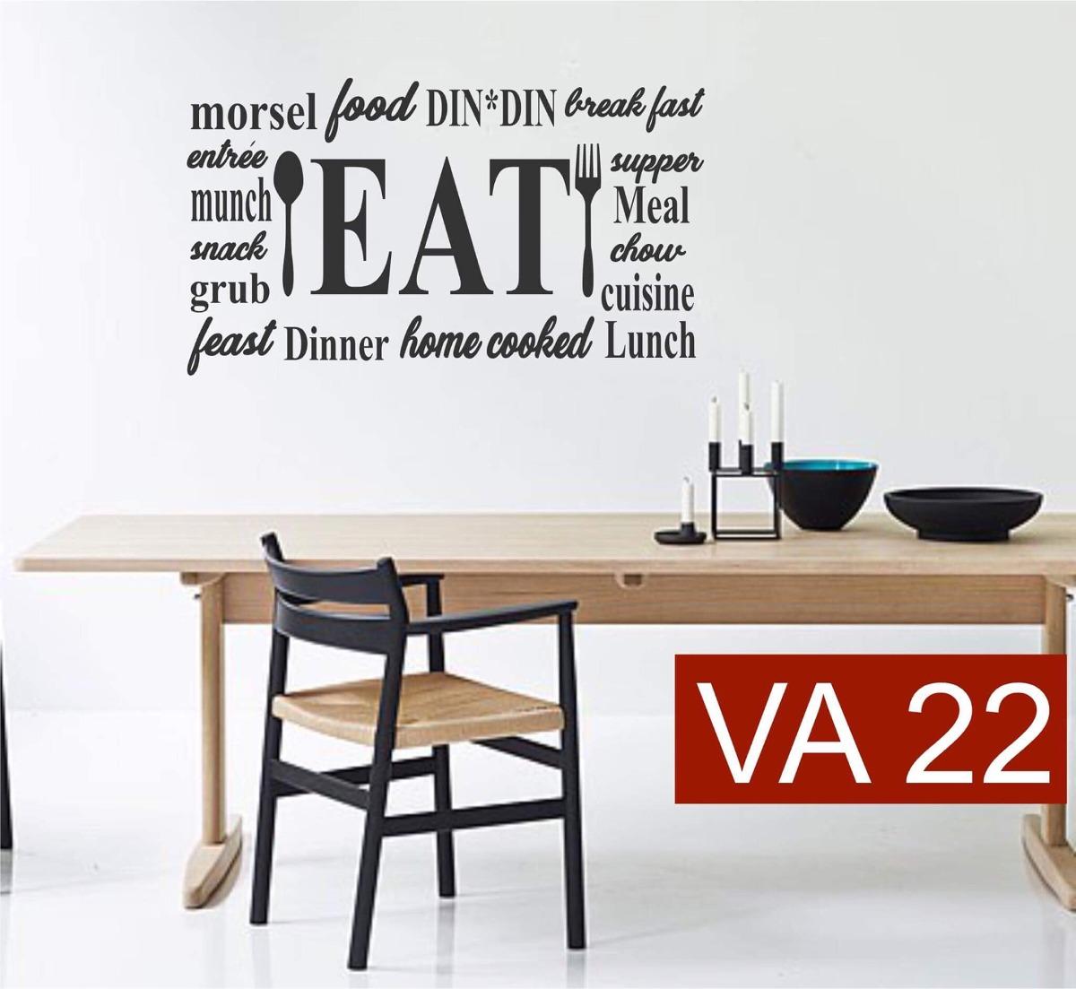 Vinilo Decorativo Frase Cocina Comedor Decoración Casa
