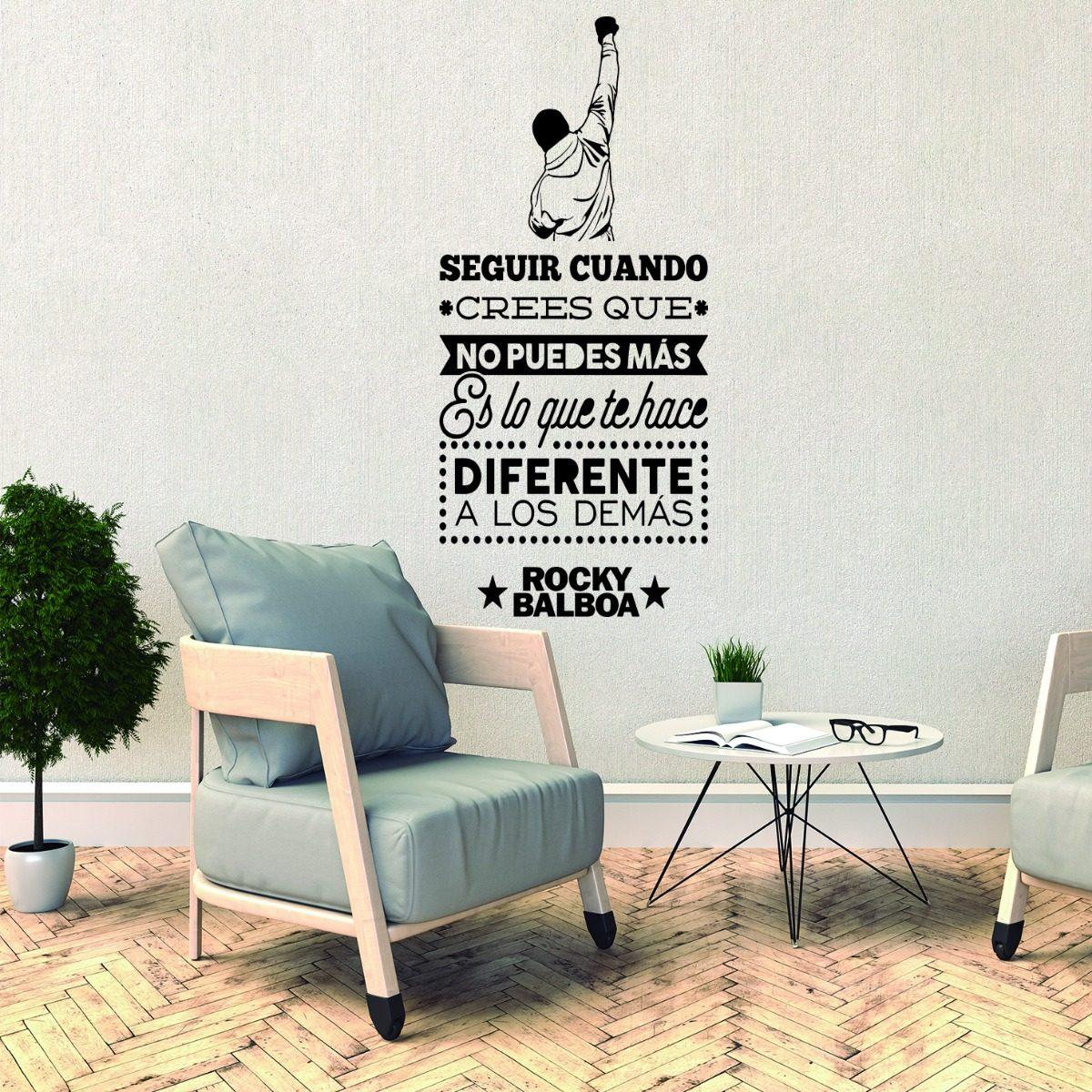 Vinilo Decorativo Frase Motivacion Rocky Balboa