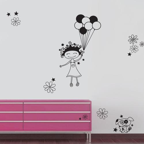 vinilo decorativo globos - barrancas de belgrano