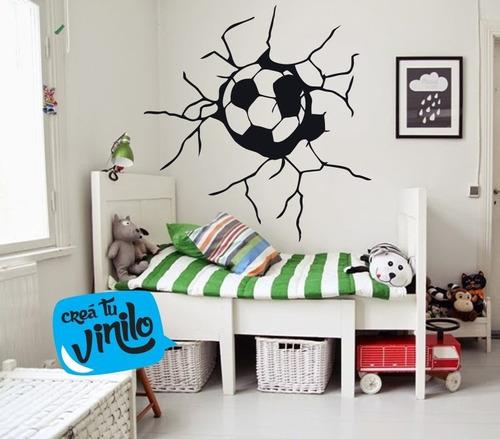 vinilo decorativo gol, pelota 60cm x 60cm futbol
