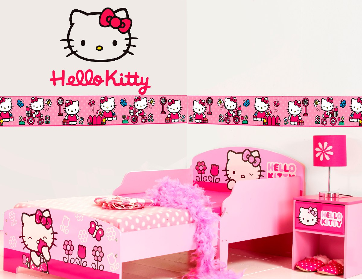 Vinilo decorativo hello kitty cenefas adhesivas 95 for Vinilo hello kitty