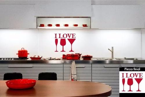 vinilo decorativo i love sala comedor cocina #951 de $100 a: