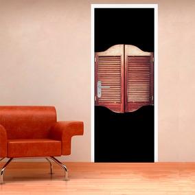 Vinilo Decorativo Impreso Para Puerta Retro Vintage Madera