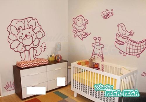vinilo decorativo infantil animales selva