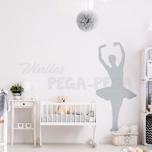 vinilo decorativo infantil bailarina ballet 70 x 180cm