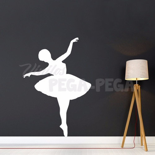 vinilo decorativo infantil bailarina ballet  85 x 120cm