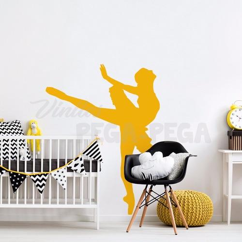 vinilo decorativo infantil bailarina ballet 90 x 120cm