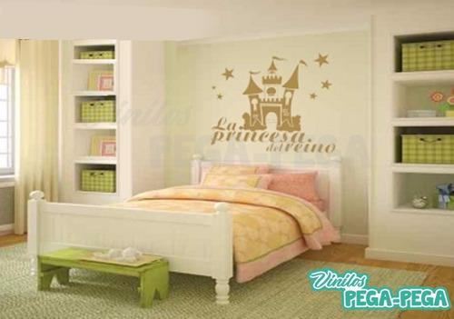 vinilo decorativo infantil castillo princesa 110 x 90cm
