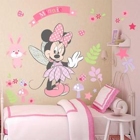 Vinilo Decorativo Infantil Minnie Cuarto Del Bebe Niñas
