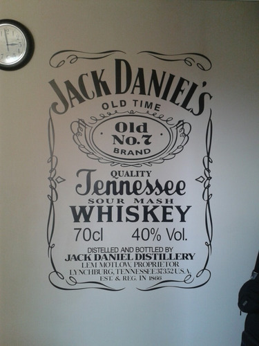 vinilo decorativo jack daniels