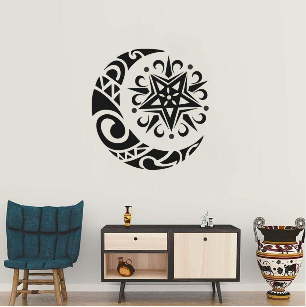 Vinilo Decorativo Luna Tribal Sol 8000 Mil Diseños Pro 13000