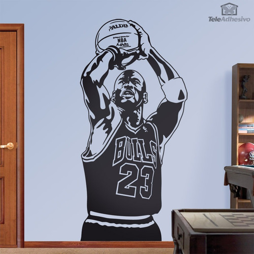 vinilo decorativo michael jordan pared mas diseños 4u