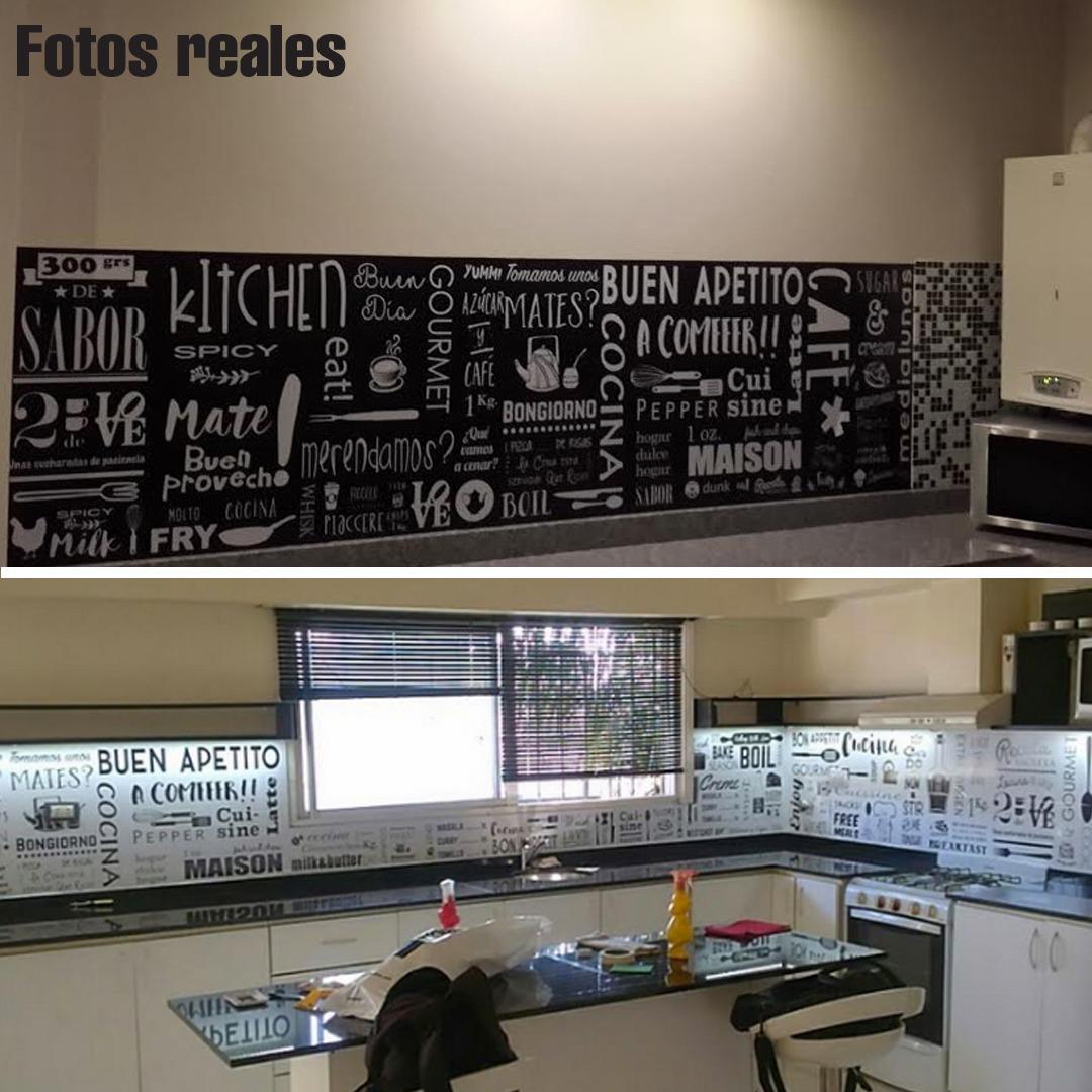 Paneles decorativos de poliuretano para cocina good panel - Cocinas con vinilos ...