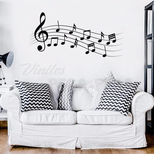 vinilo decorativo música 120 x 60cm