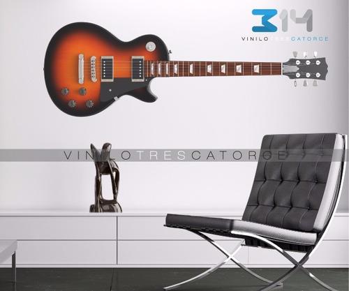 vinilo decorativo musical guitarra eléctrica 01. calcomania