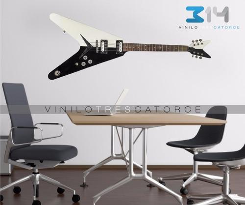 Vinilo Decorativo Musical Guitarra El Ctrica 02