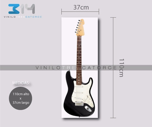 vinilo decorativo musical guitarra eléctrica 03. calcomania