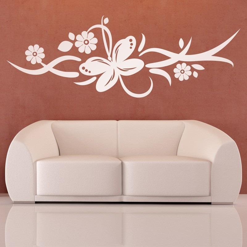 a96c9b25591 vinilo decorativo naturaleza diseño mariposa flores floral. Cargando zoom.