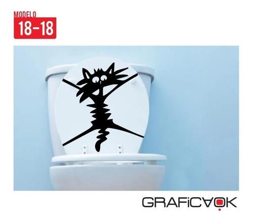 vinilo decorativo para baño - microcentro - tapa hinodoro