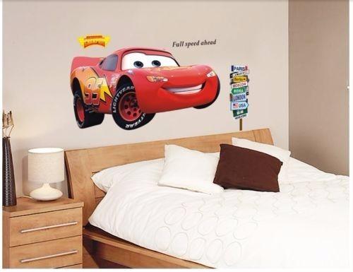 vinilo decorativo para habitación de niños rayo mcqueen