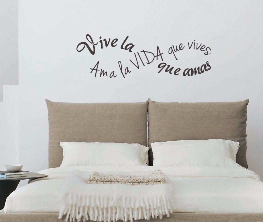 Frases para vinilos decorando con vinilos prcticos for Vinilos para dormitorios