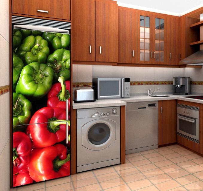 Vinilo decorativo para refrigerador haz nica tu cocina for Cocina y refrigerador juntos