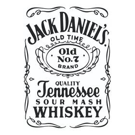 Vinilo Decorativo Pared Jack Daniels Adhesivo 68 X 50 Cm