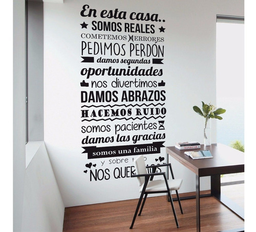 vinilo decorativo pared puerta mural paredes frases